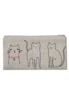 K Studio Home Embroidered Cat Pouch - Product List Image