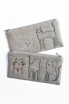K Studio Home Embroidered Cat Pouch - Alternate List Image