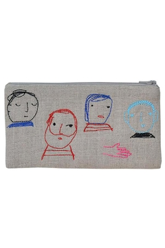 K Studio Home Embroidered Folks Pouch - Alternate List Image