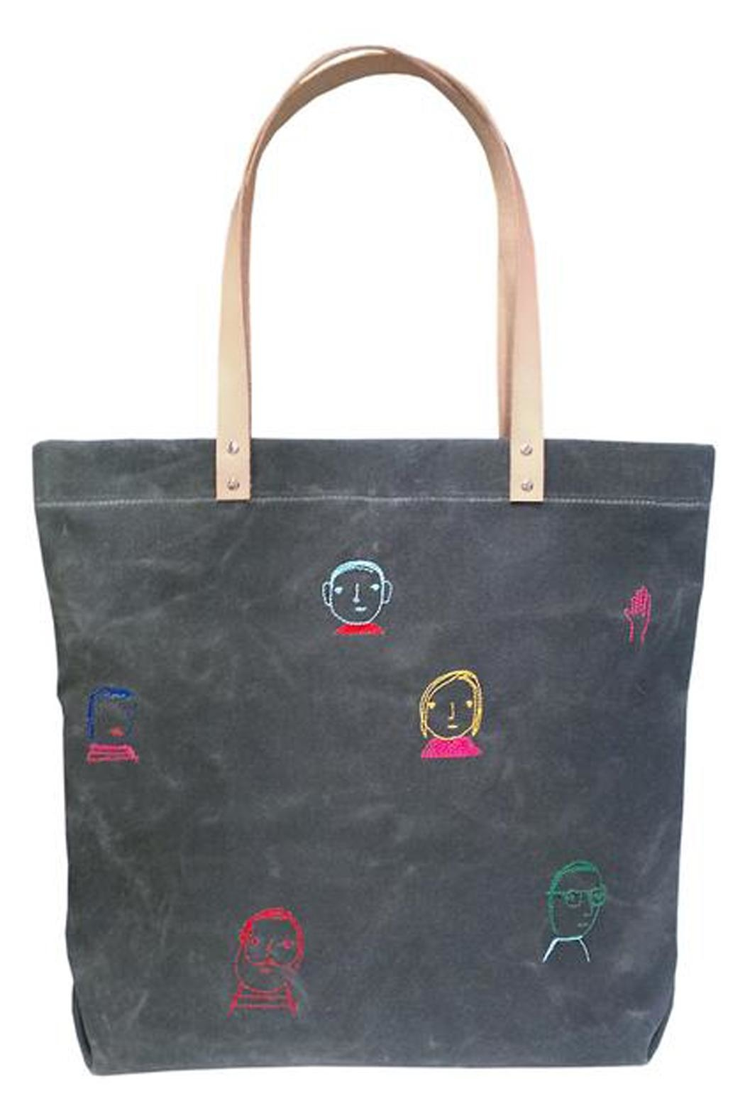 K Studio Home Embroidered Folks Tote - Main Image