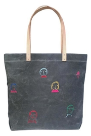 K Studio Home Embroidered Folks Tote - Front cropped