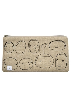 K Studio Home Embroidered People Pouch - Alternate List Image