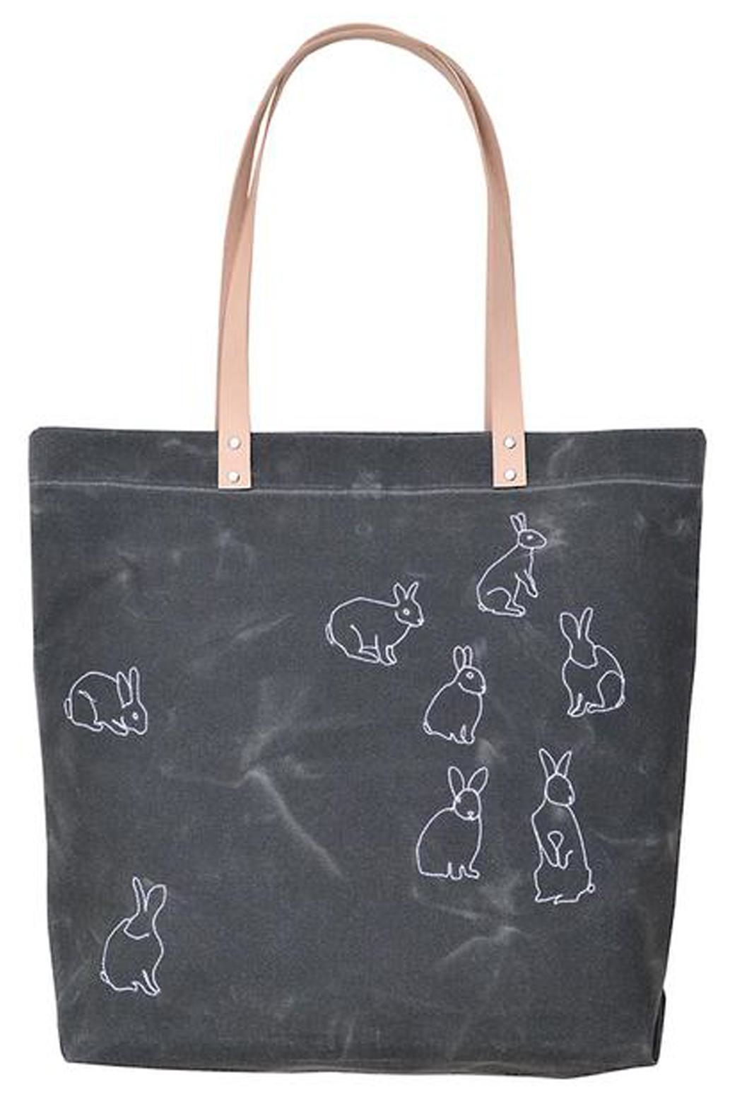 K Studio Home Embroidered Rabbits Tote - Main Image