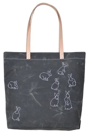 K Studio Home Embroidered Rabbits Tote - Product Mini Image
