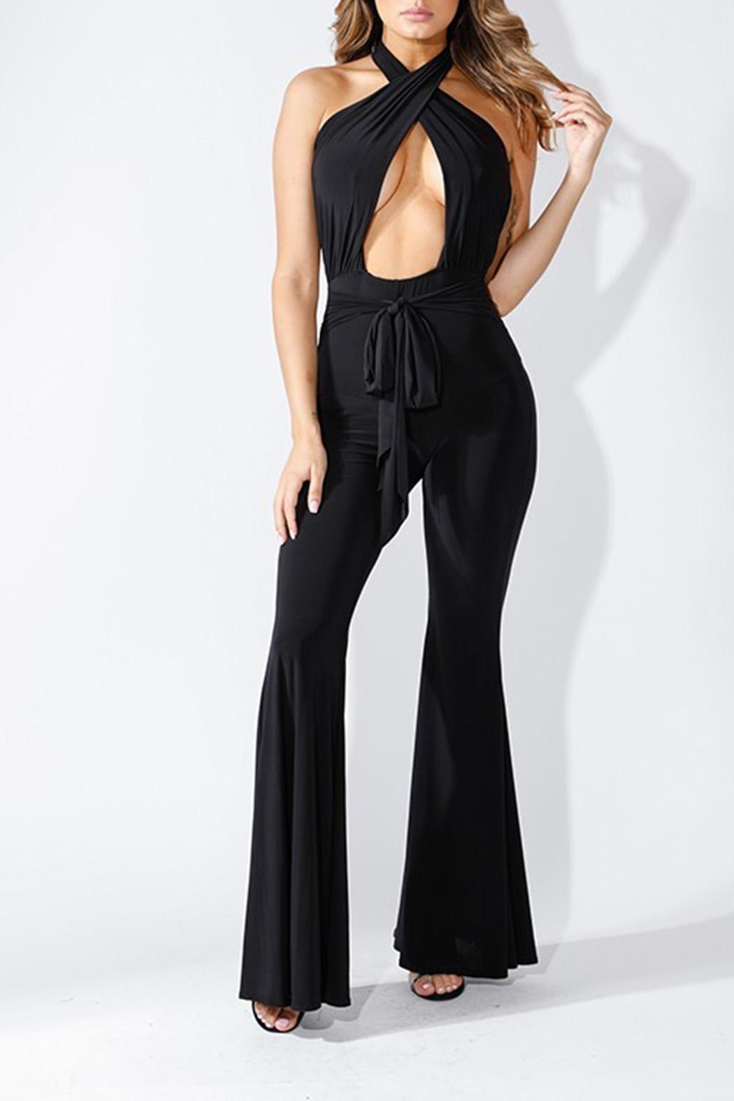 K too Crossed Front Jumpsuit - Main Image