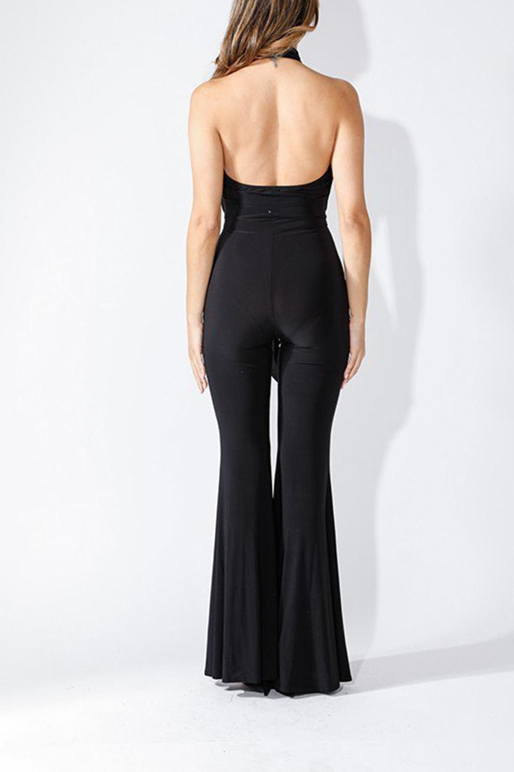 K too Crossed Front Jumpsuit - Side Cropped Image
