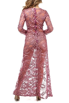 K too Embroidered Sheer Gown - Alternate List Image