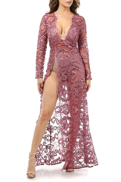 K too Embroidered Sheer Gown - Product List Image
