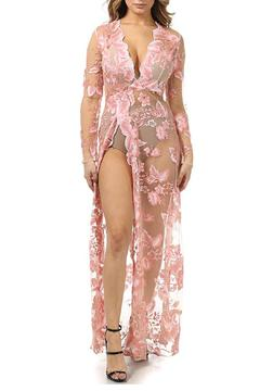 Shoptiques Product: Embroidered Sheer Dress