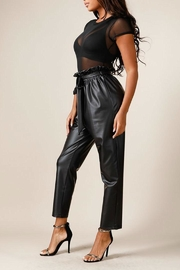 K too Faux Leather Pants - Back cropped