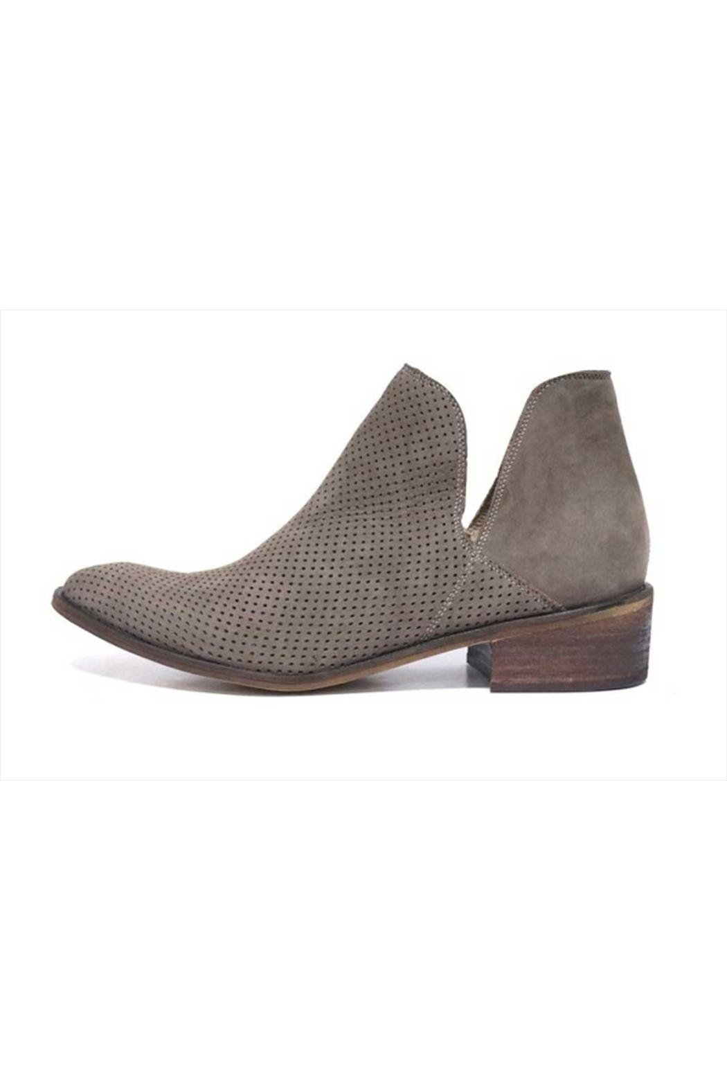 Kaanas Thar Taupe Booties - Front Full Image
