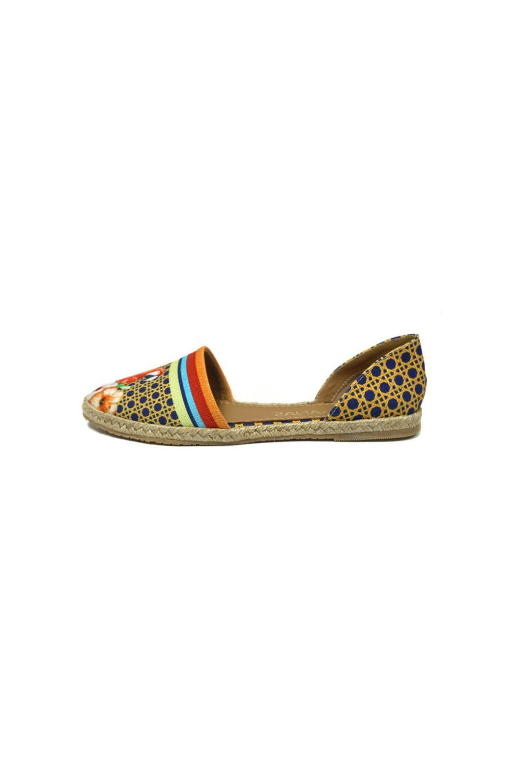 Kaanas Tropicana Red Espadrille - Front Cropped Image