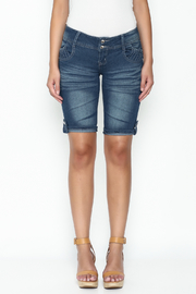 Kaba Denim Bermuda Shorts - Front full body