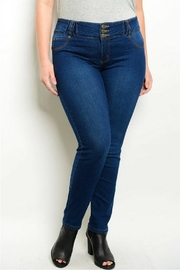 Kaba Jeans Dark Blue Jeans - Front full body