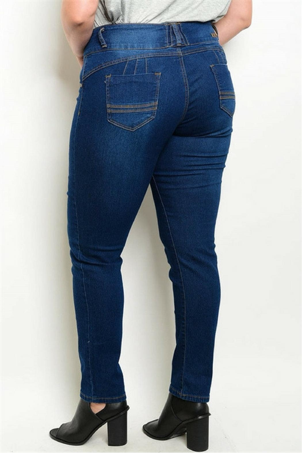 Kaba Jeans Dark Blue Jeans - Side Cropped Image