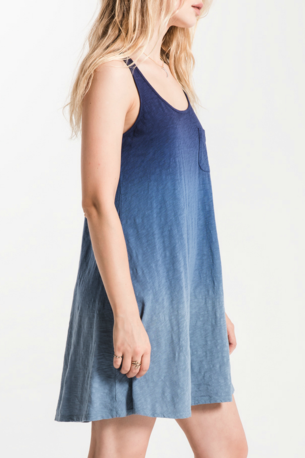 White Crow Kacey Ombre Swing Dress - Front Full Image