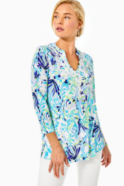 Lilly Pulitzer Kaia Knit Tunic Top Shell Beach - Product Mini Image