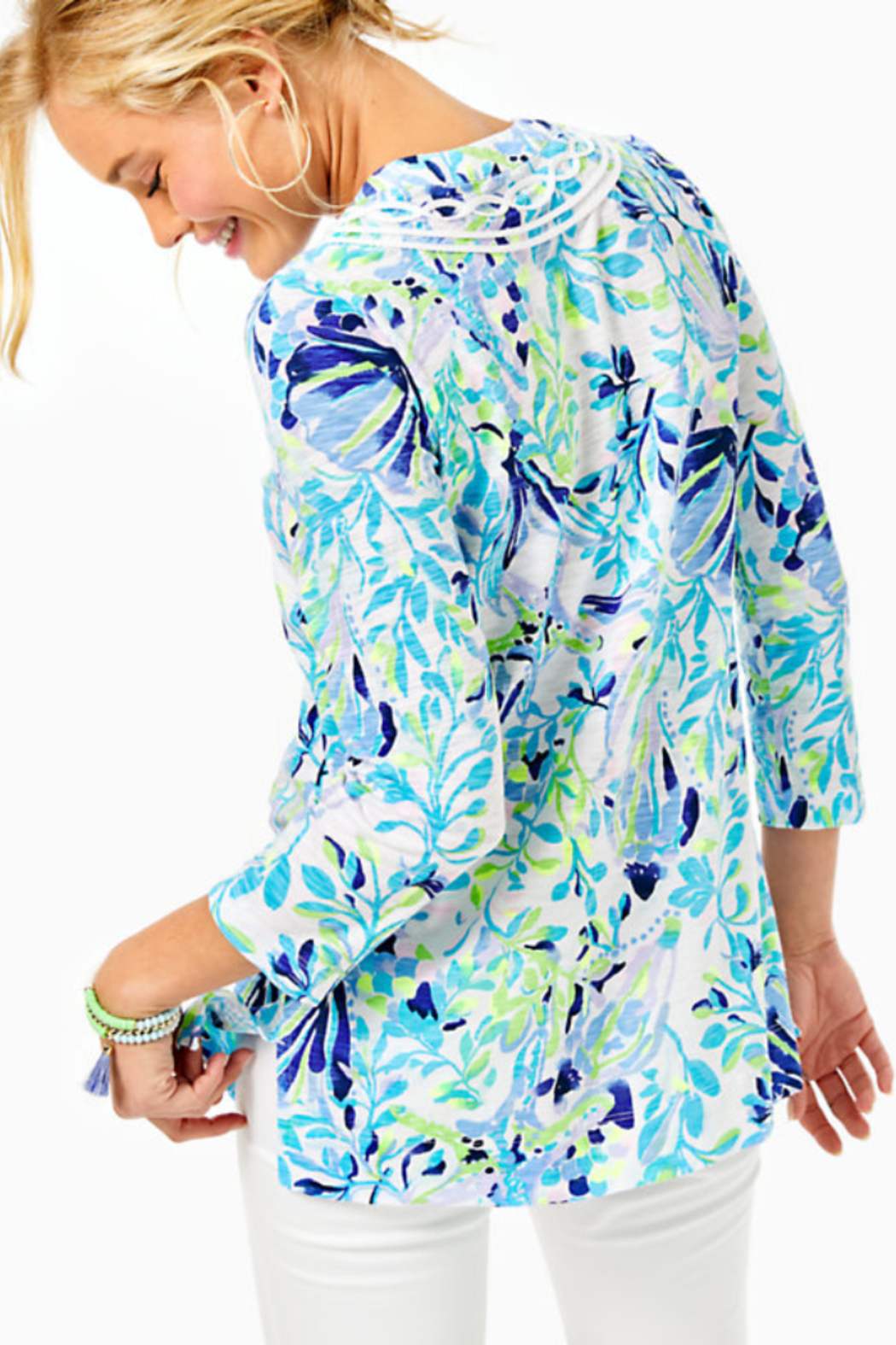 Lilly Pulitzer Kaia Knit Tunic Top Shell Beach - Front Full Image