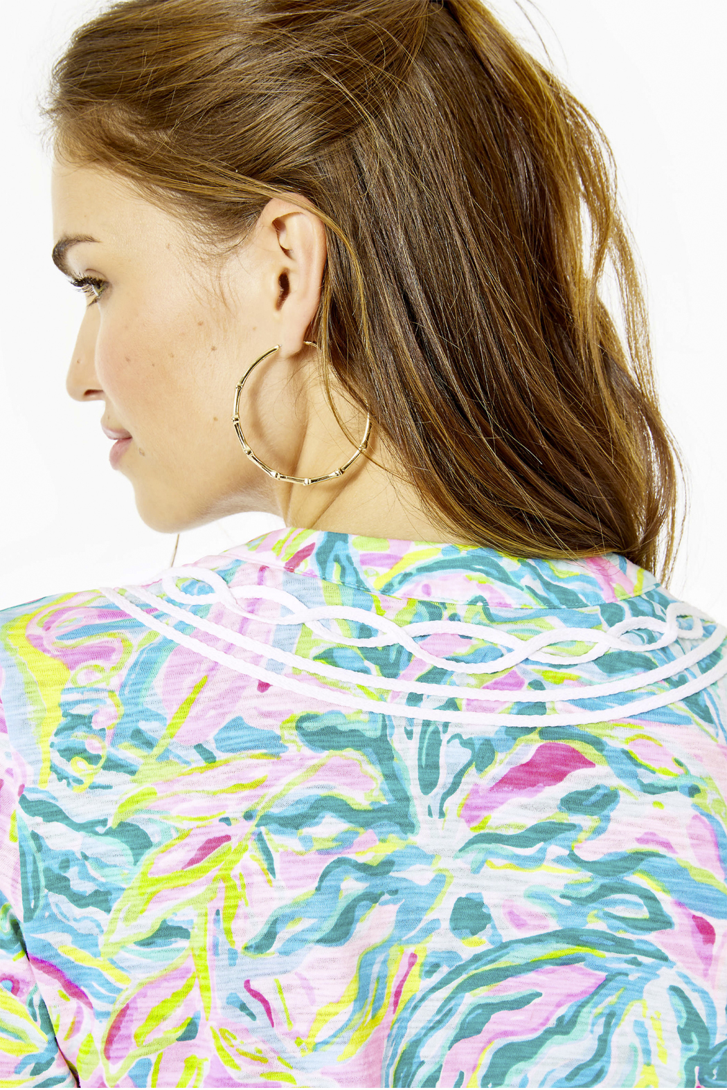 Lilly Pulitzer  Kaia Knit Tunic Top - Back Cropped Image