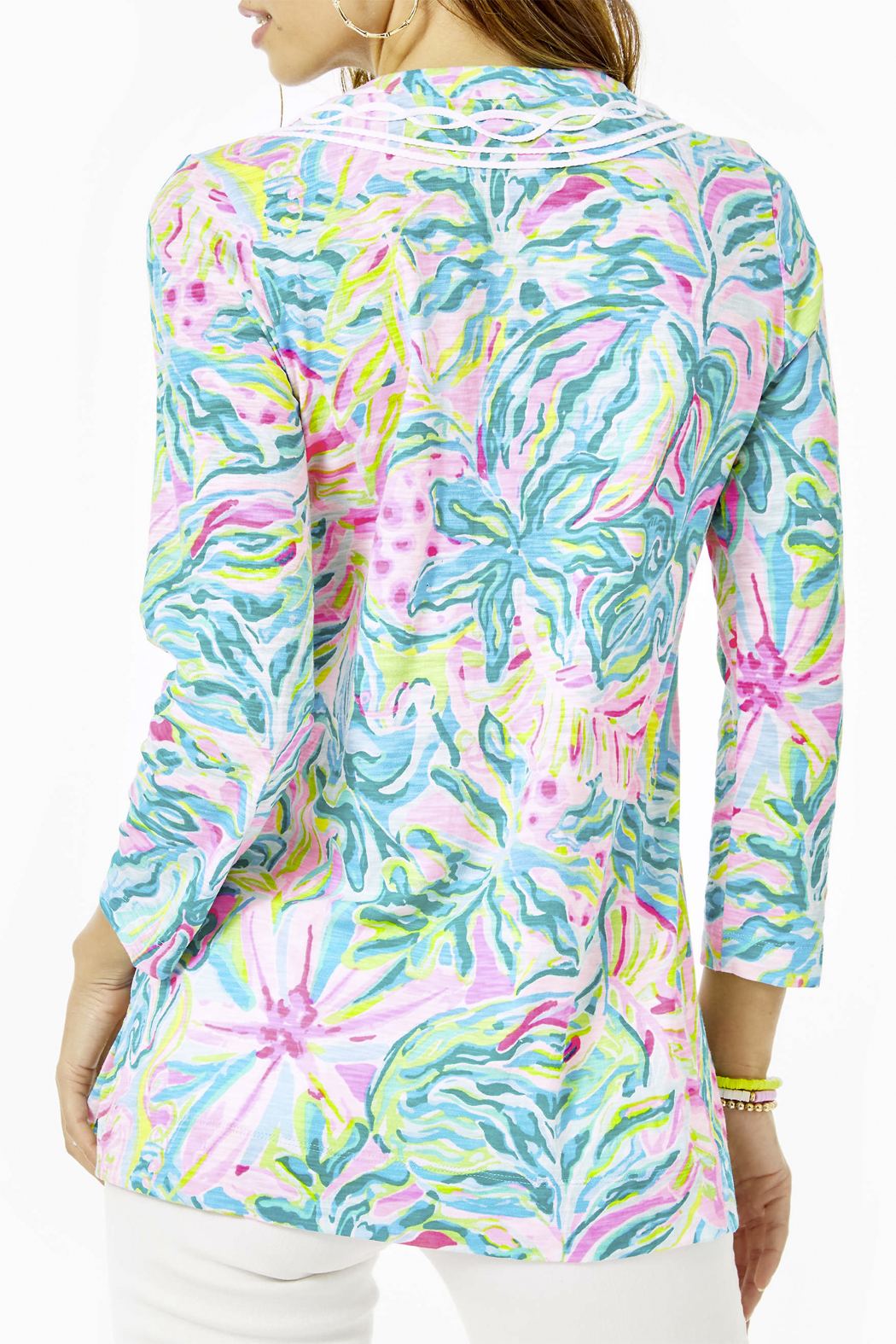 Lilly Pulitzer  Kaia Knit Tunic Top - Front Full Image