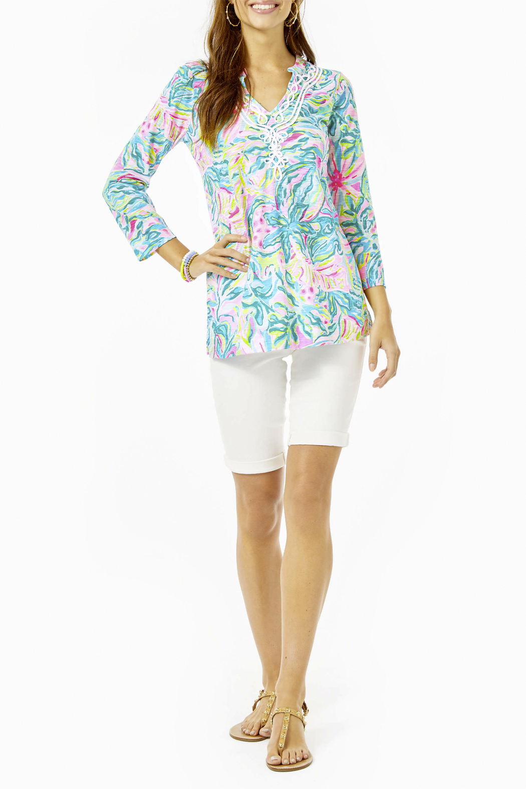 Lilly Pulitzer  Kaia Knit Tunic Top - Side Cropped Image
