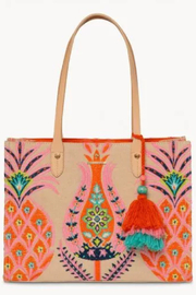 Spartina 449 Kaia Pineapple Box Tote - Product Mini Image