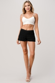 Kaii Beaded Scallop Layered Hem Shorts Crepe Georgette - Side cropped