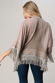 Kaii Beaded With Tassel Hemmed Cover Up Kimono Cardigan - Back cropped