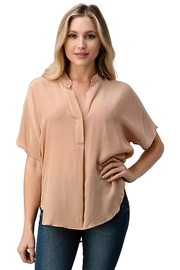 Kaii Dolman Sleeve Silk Solid Blouse Top - Product Mini Image