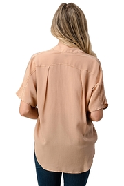 Kaii Dolman Sleeve Silk Solid Blouse Top - Other