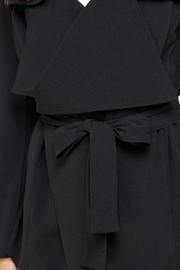 Kaii Draped Collar Trench Coat Jacket Top - Side cropped