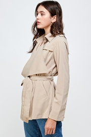 Kaii Draped Collar Trench Coat Jacket Top - Other
