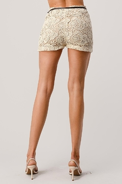 Kaii Fully Lined Belted Shorts In Crochet Lace - Alternate List Image