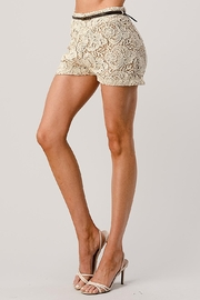 Kaii Fully Lined Belted Shorts In Crochet Lace - Other