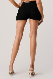 Kaii Fully Lined Belted Shorts In Crochet Lace - Front full body