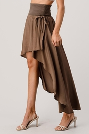 Kaii High Low Hem Tie Side Wrap Maxi Skirt - Front cropped