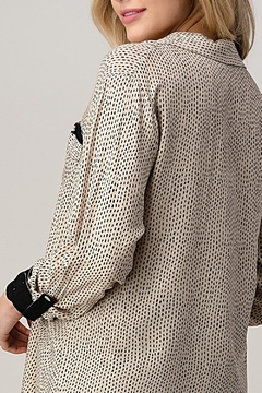 Kaii High-Low Shirt Top Hemmed And Rolled Up Sleeves - Alternate List Image