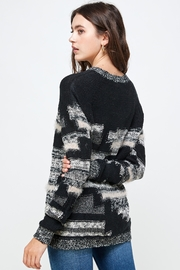 Kaii Multi Yarn Sweater Top - Back cropped