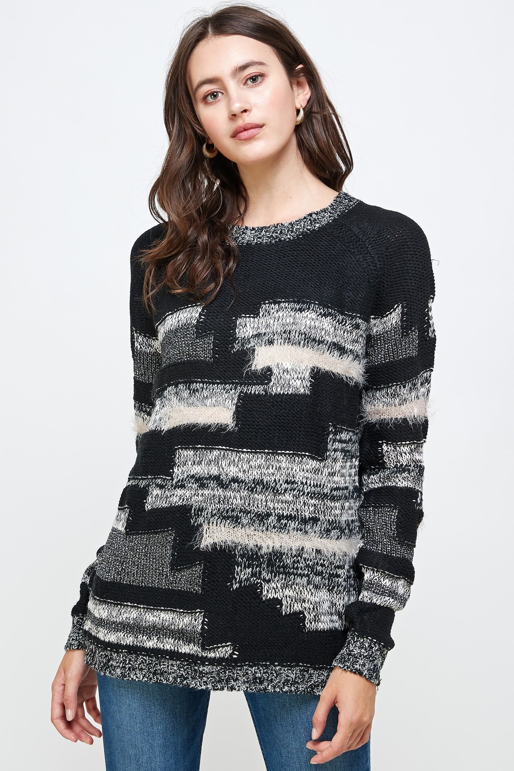 Kaii Multi Yarn Sweater Top - Main Image