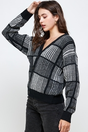 Kaii Open Back Studded Sweater Top - Front cropped