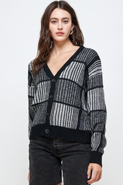 Kaii Open Back Studded Sweater Top - Front full body