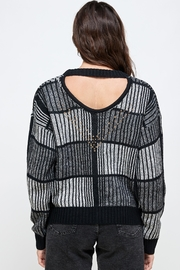 Kaii Open Back Studded Sweater Top - Back cropped