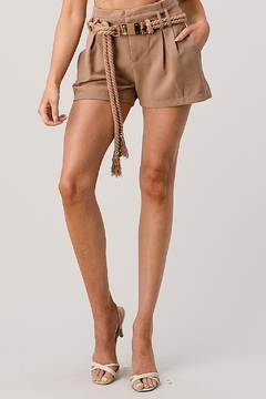 Kaii Paper Bag Waist With Rope Belted Shorts - Product List Image
