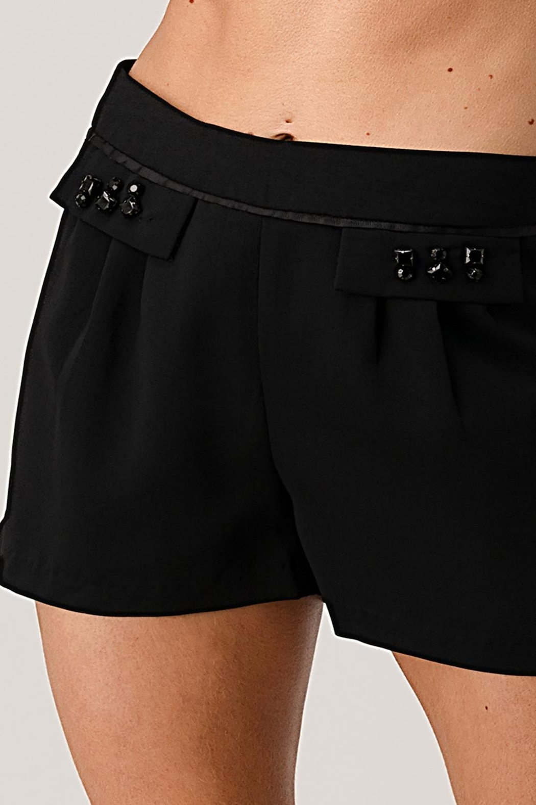 Kaii Paper Bag Waist With Rope Belted Shorts - Front Cropped Image