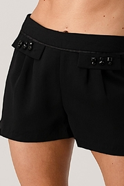 Kaii Paper Bag Waist With Rope Belted Shorts - Front cropped