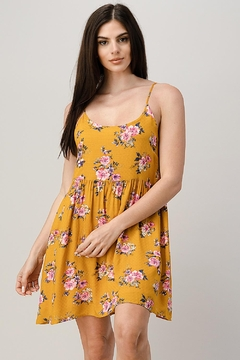 Kaii Rayon Challis Floral Button Front Dress - Product List Image