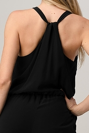 Kaii Sleeveless Loose Fit Jogger Styles Jumpsuit - Back cropped