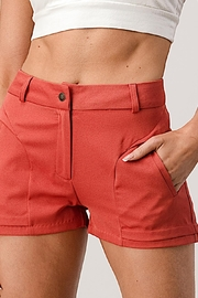 Kaii Two Pockets Dress Shorts In Gabardine - Front cropped