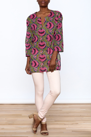 Kailani Pink Printed Tunic - Front full body