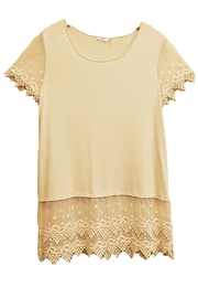 Kaktus Natural Lace Top - Product Mini Image